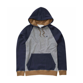 Billabong Balance Pullover Hoodie - Grey Heather / Navy