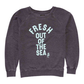 Billabong Fresh Out Of The Sea Pullover Crew - Off Black