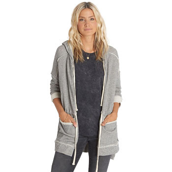 Billabong Shed Light Zip Hoodie - Athletic Heather Grey