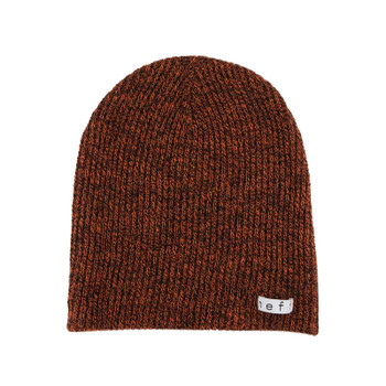 Neff Daily Heather Beanie - Black / Orange