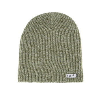 Neff Daily Heather Beanie - Olive / White