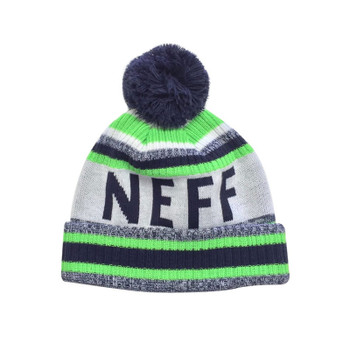 Neff Champion Beanie - Lime / Navy