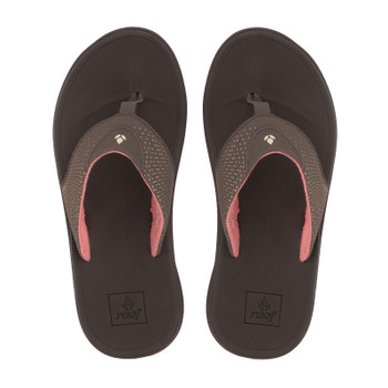Reef Womens Rover Sandal - Brown / Coral
