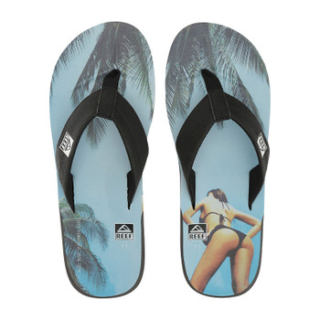 Reef HT Prints Sandal - Charcoal / Blue Sky