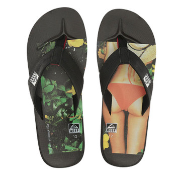 Reef HT Prints Sandal - Black / Red