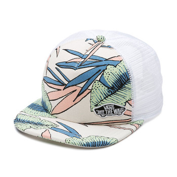 Vans Beach Bound Trucker Hat - White Sand Tropical
