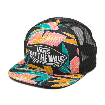 Vans Beach Girl Trucker Hat - Black Tropical