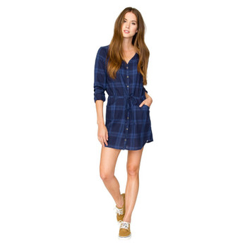 Element Deny It Woven Dress - Navy