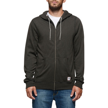 Element Cornell Overdye Zip Hoodie - Off Black