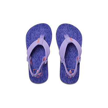Reef Little Ahi Sandal - Purple Hearts