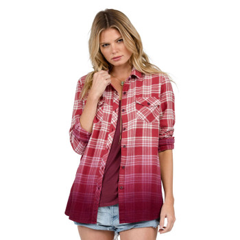 Volcom Sano Days Long Sleeve Flannel - Merlot