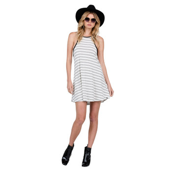 Volcom Lived In Tank Dress - Black Combo