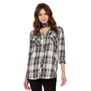 Volcom Sano Days Long Sleeve Flannel - Black