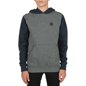 Volcom Boys Single Stone Colorblock Hoodie - Dark Grey