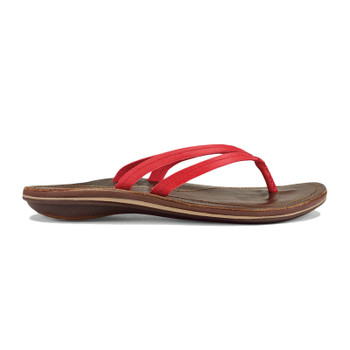 Olukai U'I Sandals - Ohia Red / Dark Java - 2