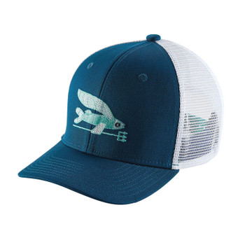 Patagonia Kids Trucker Hat - Offshore Flying Fish / Big Sur Blue