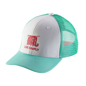 Patagonia Kids Trucker Hat - Live Simply Elephant / White