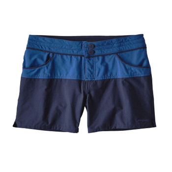 "Patagonia Colorblock Stretch Wavefarer 4"" Shorts - Superior Blue"