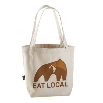 Patagonia Mini Tote - Eat Local Upstream / Bleached Stone