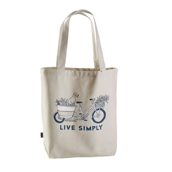 Patagonia Market Tote - Live Simply Market Bike / Bleached Stone