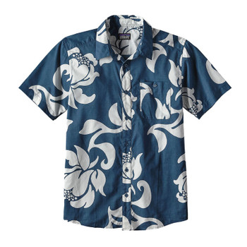 Patagonia Go To Shirt - Exotic Floral / Glass Blue