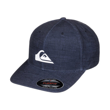 Quiksilver Amphibs Stretch Flexfit Hat - Navy Blazer Heather
