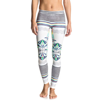 Roxy Keep It Roxy Surf Legging - Marshmallow Psyche Palm Repeat