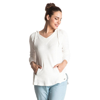 Roxy Wasted Time Hooded Top - Marshmallow