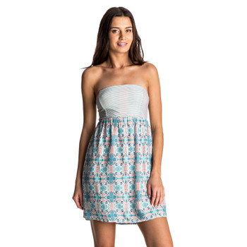 Roxy Crystal Light Strapless Dress - Marshmallow Land Of Tehotihuac