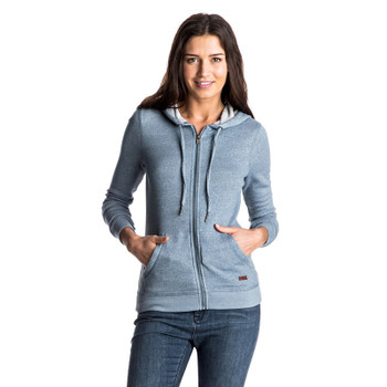 Roxy Signature Zip Hoodie - Captains Blue
