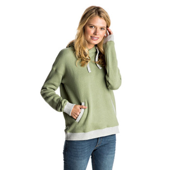 Roxy Shoal Pullover Hoodie - Oil Green Heather