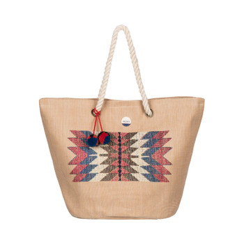 Roxy Sun Seeker Straw Beach Bag - Natural