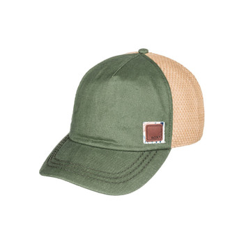 Roxy Incognito Straw Baseball Hat - Oil Green