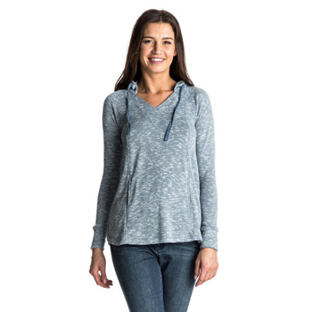 Roxy Wasted Time Hooded Top - Captains Blue
