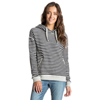 Roxy Shoal Stripe Pullover Hoodie - Anthracite Friday Stripe