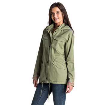 Roxy Sultanis Military Jacket - Oil Green