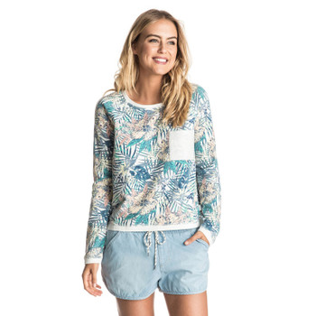 Roxy Whitewater Waves Pullover Sweatshirt - Marshmallow Beyond Love