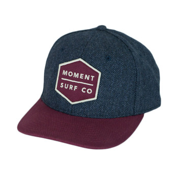 Moment Boxed Logo Herringbone Hat - Maroon