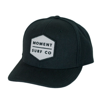 Moment Boxed Logo Hat - Black