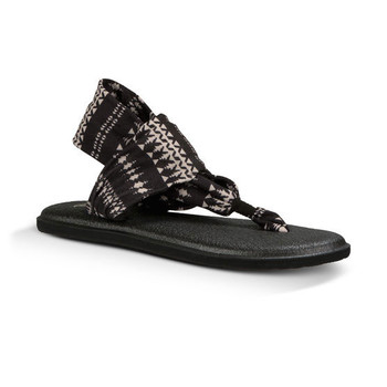 Sanuk Yoga Sling 2 Prints Sandal - Black / Natural Koa Tribal
