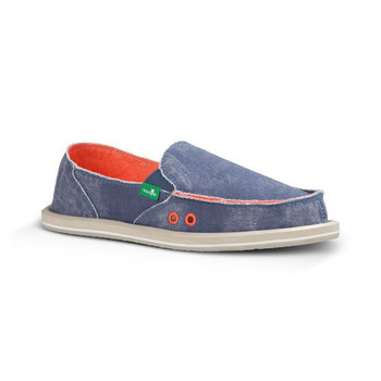 Sanuk Donna Distressed Sidewalk Surfers - Slate Blue