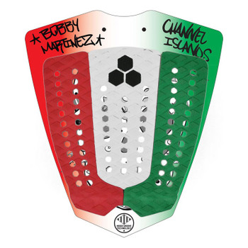 Channel Islands Bobby Martinez Signature Traction Pad - Red / White / Green