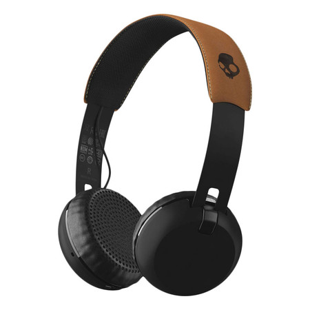 Skullcandy Grind Wireless Headphones - Black / Tan