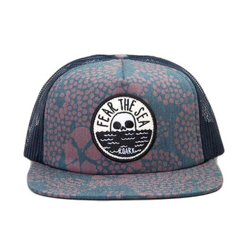 Roark Revival Fear The Sea Snapback Hat - Navy