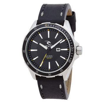 Rip Curl DVR-100 Surf Leather Watch - Black