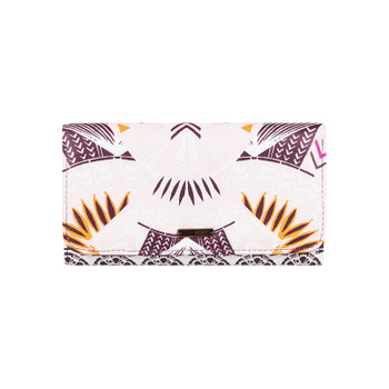 Roxy My Long Eyes Wallet - Grapewine Ax Hippie Hop Border