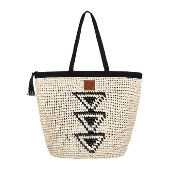 Roxy Got Rhythm Straw Beach Bag - Anthracite
