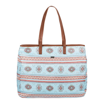Roxy Single Water A Straw Beach Bag - Pastel Turquoise