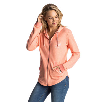 Roxy Hawser C Zip Hoodie - Fusion Coral Heather