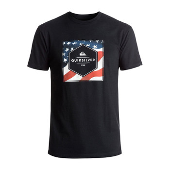 Quiksilver Stars And Stripes Tee - Black